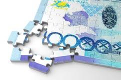 Kazakh Tenge Puzzle Royalty Free Stock Photos