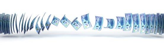 Kazakh Tenge Transfer Royalty Free Stock Photography