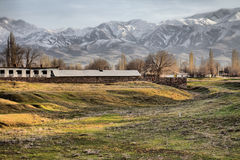 Kazakh village in foothills of Kopet Dagh ridge, Middle Asia 1 Stock Images