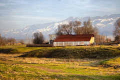 Kazakh village in foothills of Kopet Dagh ridge 2, Middle Asia Royalty Free Stock Photography
