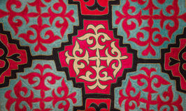 Kazakh voelde tapijt 3 Royalty-vrije Stock Foto's