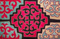 Kazakh voelde tapijt 2 Royalty-vrije Stock Afbeeldingen
