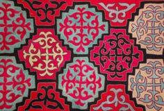 Kazakh voelde tapijt 5 Royalty-vrije Stock Foto's