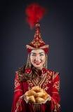 Kazakh women with national food Royalty Free Stock Photo
