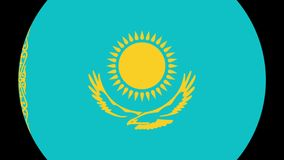 Kazakhistan Flag Transition 4K. Smooth and Elegant flag animation with alpha matte. Great 2D look that is perfect for any kind of videos dealing with a world stock illustration