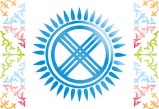 Kazakhmuster lizenzfreie abbildung