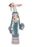 Kazakhpuppe im nationalen Kostüm Stockfotografie