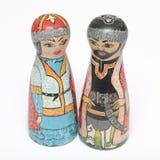 Kazakhs del ricordo in vestito nazionale Fotografia Stock Libera da Diritti