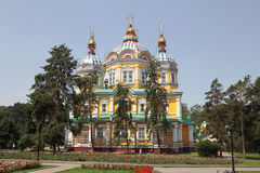Kazakhstan. Almaty. Assumption Cathedral in Kazakhstan Royalty Free Stock Photography