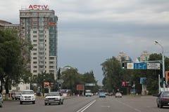 Kazakhstan. Almaty. Veiw of streets Royalty Free Stock Images