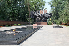 Kazakhstan. Almaty. War Memorial in Panfilov park. Stock Photo