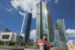 Kazakhstan. Astana. Business quarter in the city centre Royalty Free Stock Photo