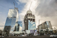 Kazakhstan. Astana. The construction of new modern buildings Royalty Free Stock Photo