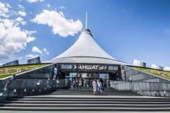 kazakhstan astana ` Di Khan Shatyr del ` del centro commerciale fotografia stock libera da diritti