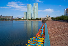 Kazakhstan. Astana.  Embankment. Royalty Free Stock Photography