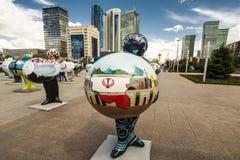 kazakhstan astana EXPO - 2017 no centro de cidade Fotos de Stock Royalty Free
