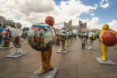 kazakhstan astana EXPO - 2017 no centro de cidade Fotografia de Stock Royalty Free