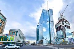 kazakhstan astana Quartiere degli affari nel centro urbano fotografia stock