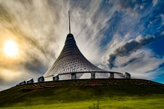 Kazakhstan. Astana. Shopping center `Khan Shatyr`.  stock image