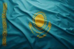Kazakhstan bandery Obrazy Stock