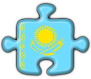 Kazakhstan button flag puzzle shape Stock Photos