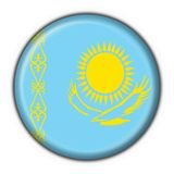 Kazakhstan button flag round shape Stock Image