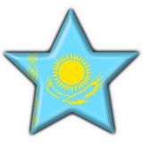 Kazakhstan button flag star shape Stock Photo