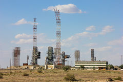 Kazakhstan. Cosmodrome Baikonur. Buran. The launch pad of the Space Shuttle Reusable Buran Royalty Free Stock Images