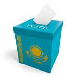 Kazakhstan election ballot box for collecting votes. Rendered in 3D on a white background Stock Photography