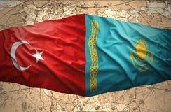Kazakhstan et la Turquie Images stock