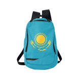 Kazakhstan flag backpack isolated on white Royalty Free Stock Image