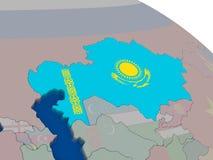 Kazakhstan with flag Stock Photography