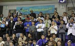 Kazakhstan ice-hockey fans Stock Photography