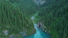 kazakhstan kaindy jezioro Areal dron strzał zbiory
