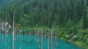 kazakhstan kaindy jezioro Areal dron strzał zdjęcie wideo