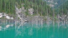 kazakhstan kaindy jezioro Areal dron strzał zbiory wideo
