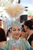 Kazakhstan. Kazakh batyrs girl  in a typical dress Royalty Free Stock Image