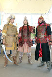 Kazakhstan. Kazakh batyrs in a typical dress Stock Photos