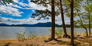kazakhstan Lac Borovoe Photographie stock