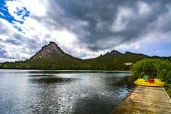 Kazakhstan. Lake Borovoe. Summer Sunny landscape Stock Photos