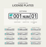 Kazakhstan License Plate Stock Photos