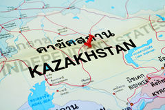 Kazakhstan map Royalty Free Stock Photo