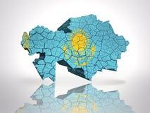 kazakhstan mapa Obrazy Stock