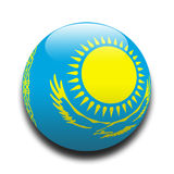 Kazakhstan-Markierungsfahne Lizenzfreie Stockbilder