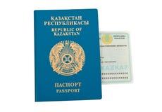 Kazakhstan-Paß und Identifikation Stockfotos