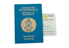 Kazakhstan passport and ID Stock Photos