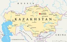 Kazakhstan Political Map Royalty Free Stock Image