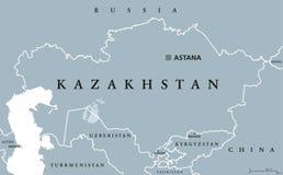 Kazakhstan political map stock vector illustration of cartography kazakhstan political map royalty free stock photos sciox Choice Image