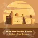 Kazakhstan. Retro styled image. Stock Image