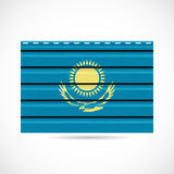 Kazakhstan siding produce company icon Royalty Free Stock Images